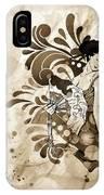 Oriental Beauty Sepia Tone IPhone Case