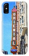 Oriental Theater With Sponge Painting Effect IPhone Case