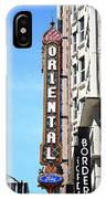 Oriental Theater With Watercolor Effect IPhone Case
