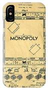 Original Patent For Monopoly Board Game IPhone Case