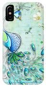 Original Peacock Painting Bird Art By Megan Duncanson IPhone Case