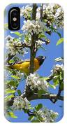 Oriole In A Pear Tree IPhone Case
