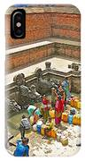Ornate Fountains With Holy Water From The Bagmati River In Patan Durbar Square In Lalitpur-nepal   IPhone Case