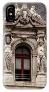 Ornate Window Of City Hall Philadelphia IPhone Case