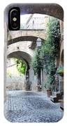 Orvieto Street With Arches IPhone Case