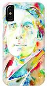 Oscar Wilde Watercolor Portrait.1 IPhone Case