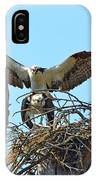 Ospreys Copulating In New Nest3 IPhone Case