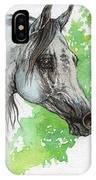 Ostragon Polish Arabian Horse Painting 1 IPhone Case