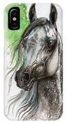 Ostragon Polish Arabian Horse Painting   IPhone Case