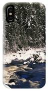 Ouareau River And Snow Covered IPhone Case