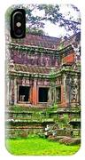 Outer Building Of Angkor Wat In Angkor Wat Archeological Park Near Siem Reap-cambodia  IPhone Case