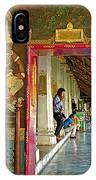 Outer Hall In Thai-khmer Pagoda At Grand Palace Of Thailand IPhone Case