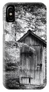 Outhouse In The Forest Black And White IPhone X Case