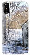 Outhouse In Winter IPhone Case
