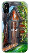 Outhouse - Privy - The Old Out House IPhone Case