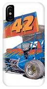Dirt Track Racing Outlaw 42 IPhone Case