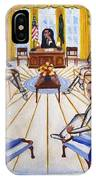 Oval Office Ghost With President Obama  IPhone Case