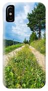 Overgrown Rural Path Up A Hill IPhone Case