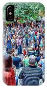 Overlooking The Asheville Drum Circle IPhone Case