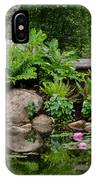 Overlooking The Lily Pond IPhone Case