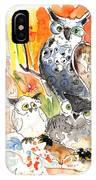 Owl Family In Velez Rubio IPhone Case