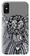 Owl In Flight Grey IPhone Case