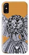 Owl In Flight Orange IPhone Case