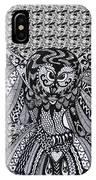 Owl In Flight Pattern IPhone Case