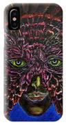 Owl Mask Self Portrait IPhone Case