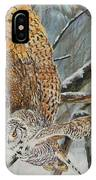 Owl Taking Off IPhone Case
