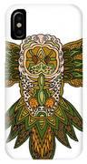 Owl Yellow IPhone Case