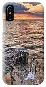 Oyster Bay Stump Sunset IPhone Case