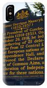 Pa-132 Tomas Garrigue Masaryk 1850-1937 IPhone Case