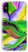 Pacific Tree Frog And Flower IPhone Case