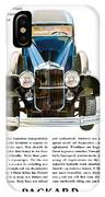 Packard Automobile - Vintage Poster IPhone Case