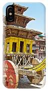 Pagoda-style Carriage In Bhaktapur Durbar Square In Bhaktapur-nepal IPhone Case