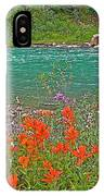 Paintbrush By Bow River In Banff Np-ab IPhone Case