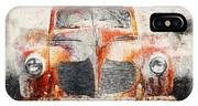 Painted 1940 Desoto Deluxe IPhone X Case