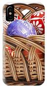 painted Easter Eggs in wicker basket IPhone Case