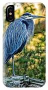 Painted Great Blue Heron IPhone Case