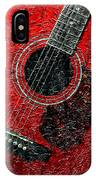 Painted Guitar - Music - Red IPhone Case