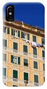 painted homes in Camogli IPhone Case
