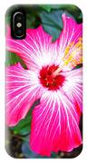 'painted Lady' Hibiscus IPhone Case