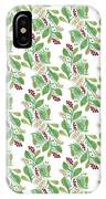 Painted Nature Coorsinating Foliage Leaves Pattern IPhone Case