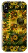 Painted Sunflower Abstract IPhone Case
