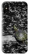 Painted Turtle In A Monochrome World IPhone Case