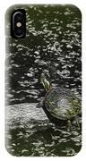 Painted Turtle Sleeping Like A Log IPhone Case