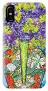 Painted Vase With Hydrangeas IPhone X Case