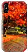 Painterly Autumn Path IPhone Case