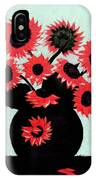 Painterly Red Sunflowers With Purple IPhone Case
